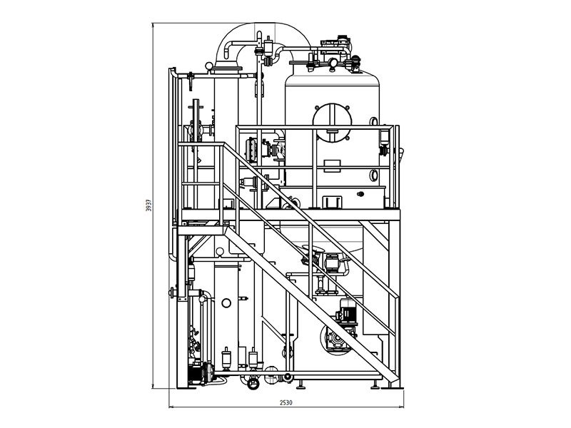 concentration kettle technical drawing 2