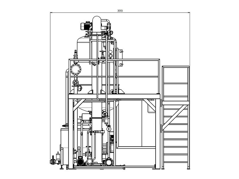 concentration kettle technical drawing