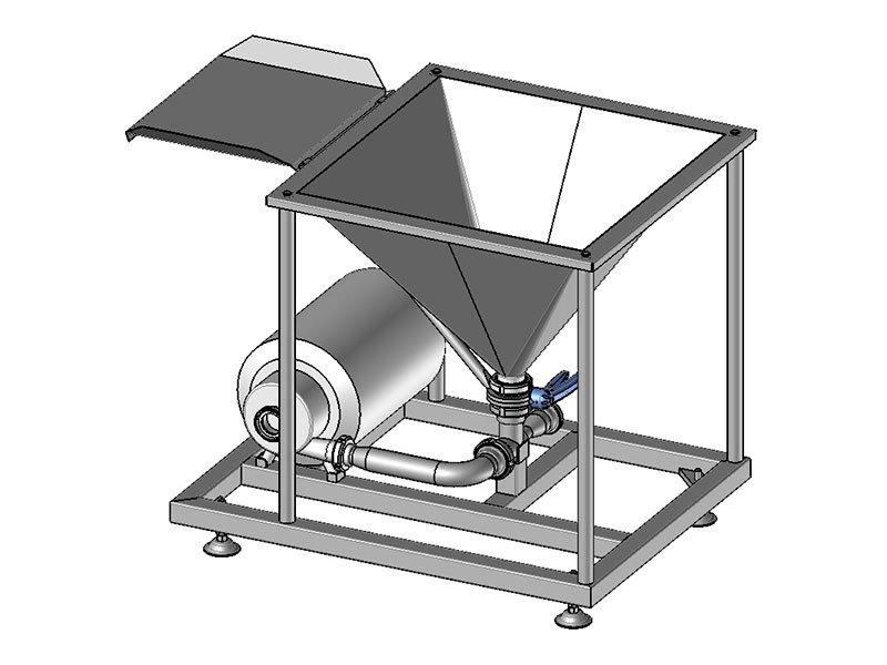 dr powder mixing machine 3d drawing