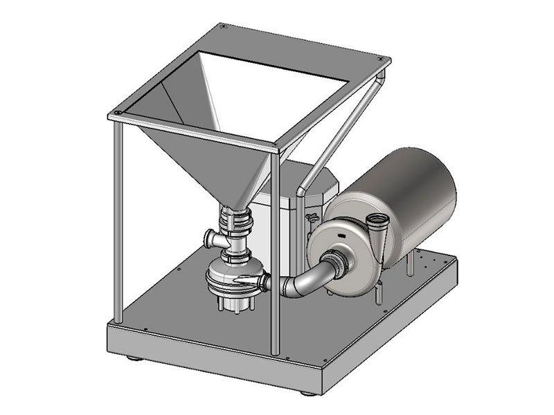 tmv powder mixer 3d drawing