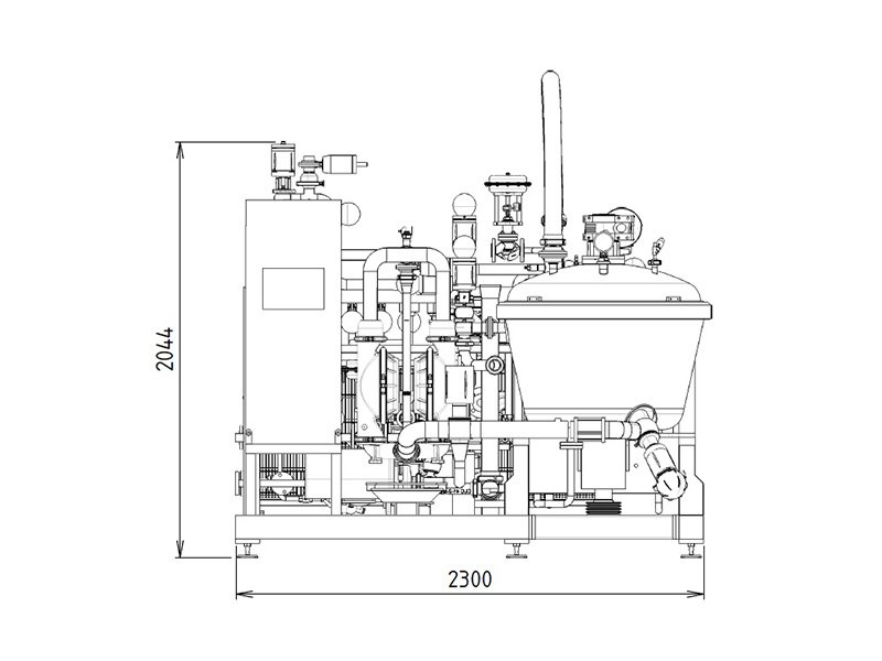 procut industrial cooking kettle technical drawing 2