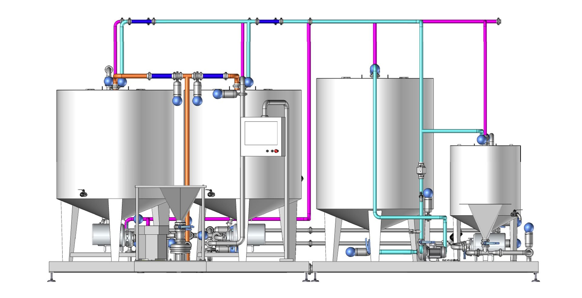 promix mixing system for brine and syrup 3d drawing