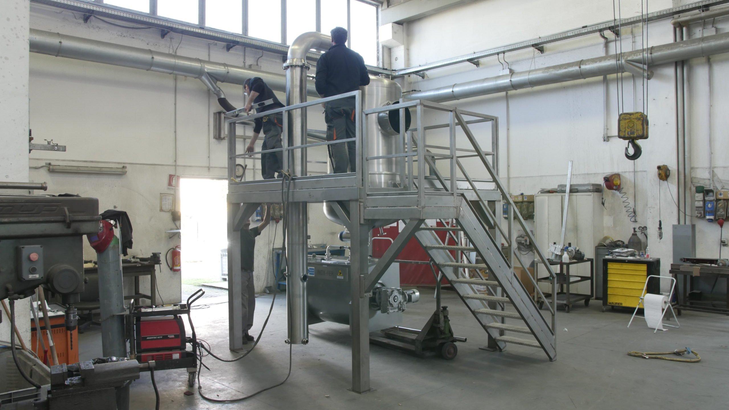 costruzione della bolla di concentrazione per produzione marmellata