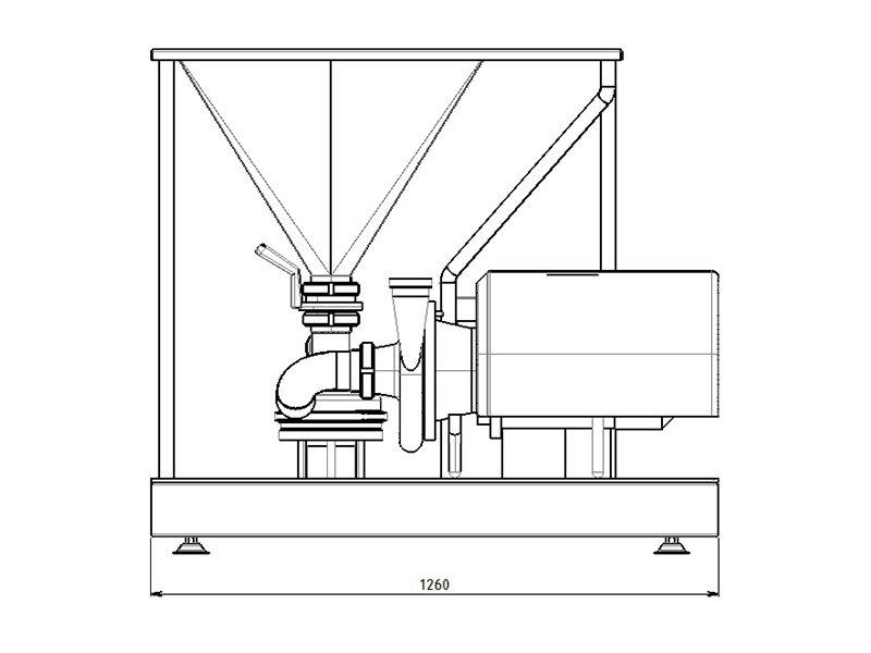 tmv powder mixer technical drawing