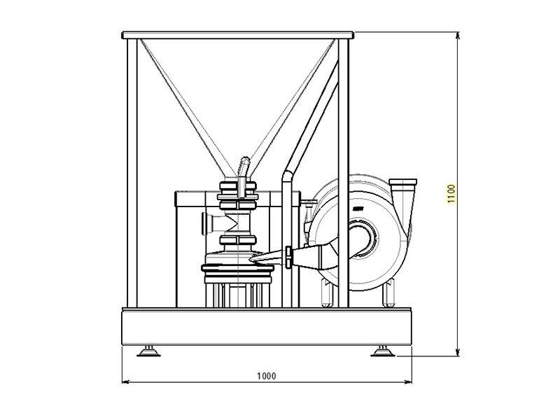 tmv powder mixer technical drawing 2