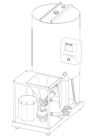 mixing system for ice-cream production line