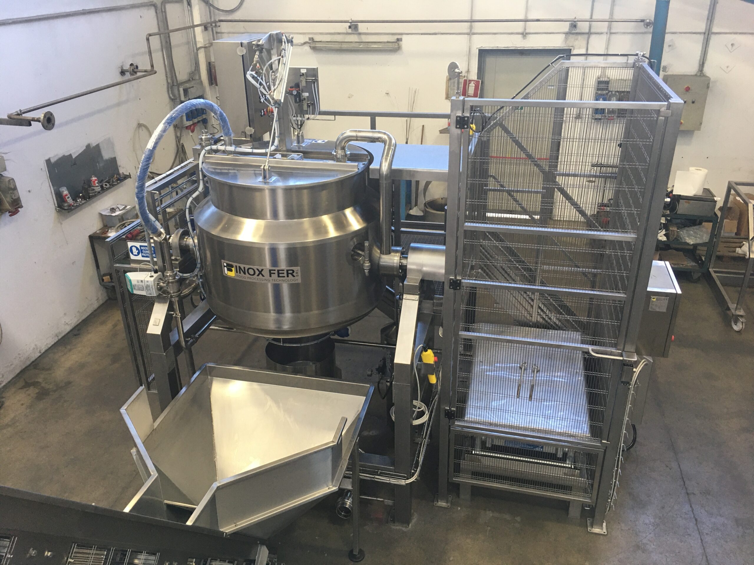 cooking tank for chestnut cream production