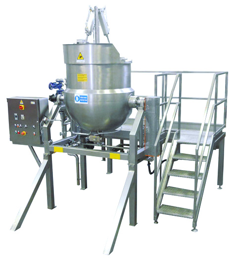cooking kettle for sauce production
